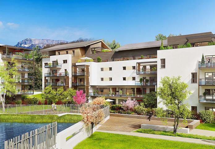 Appartements avec terrasses ou jardins dans un cadre privilégié