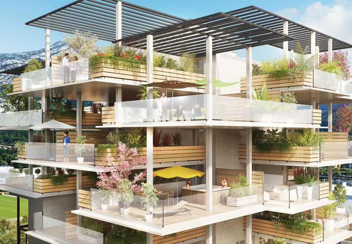 Programme neuf original et moderne avec ses terrasses sur le toit