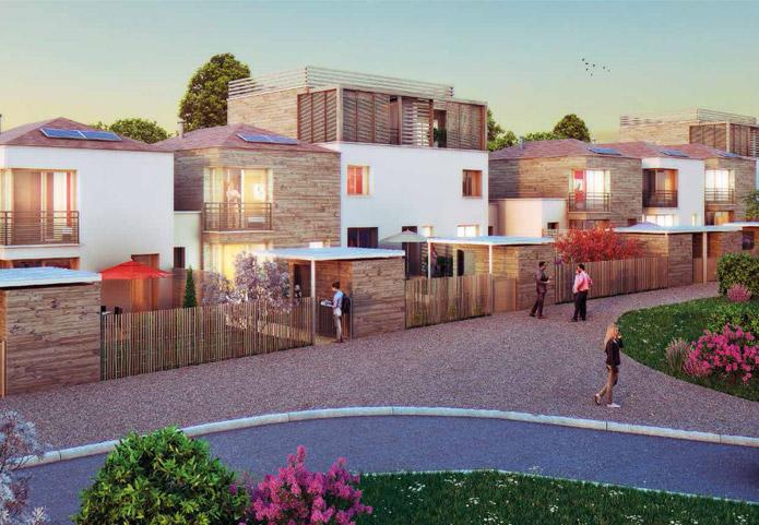 Votre maison ou appartement neufs dans un écrin de verdure proche de la ville