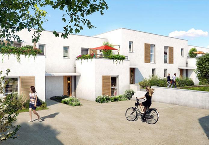 Maisons dans quartier résidentiel