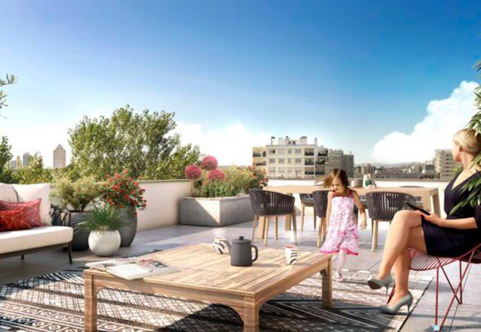 Résidence contemporaine avec balcons et terrasses